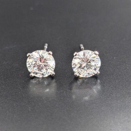 3ct diamond studs