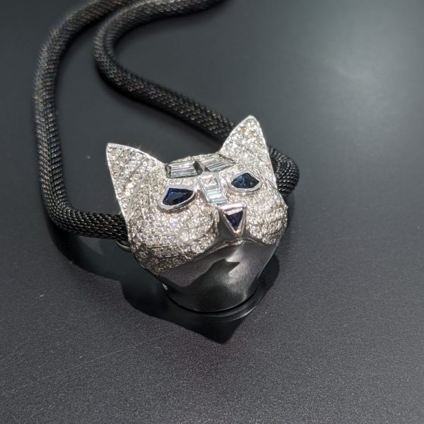 diamond animal pendant for women