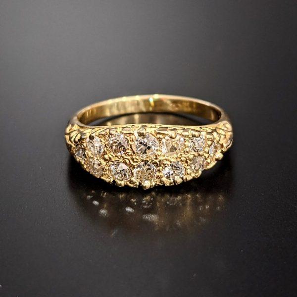 antique diamond ladies dress ring
