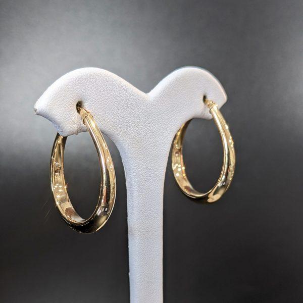 ladies gold hoop earrings