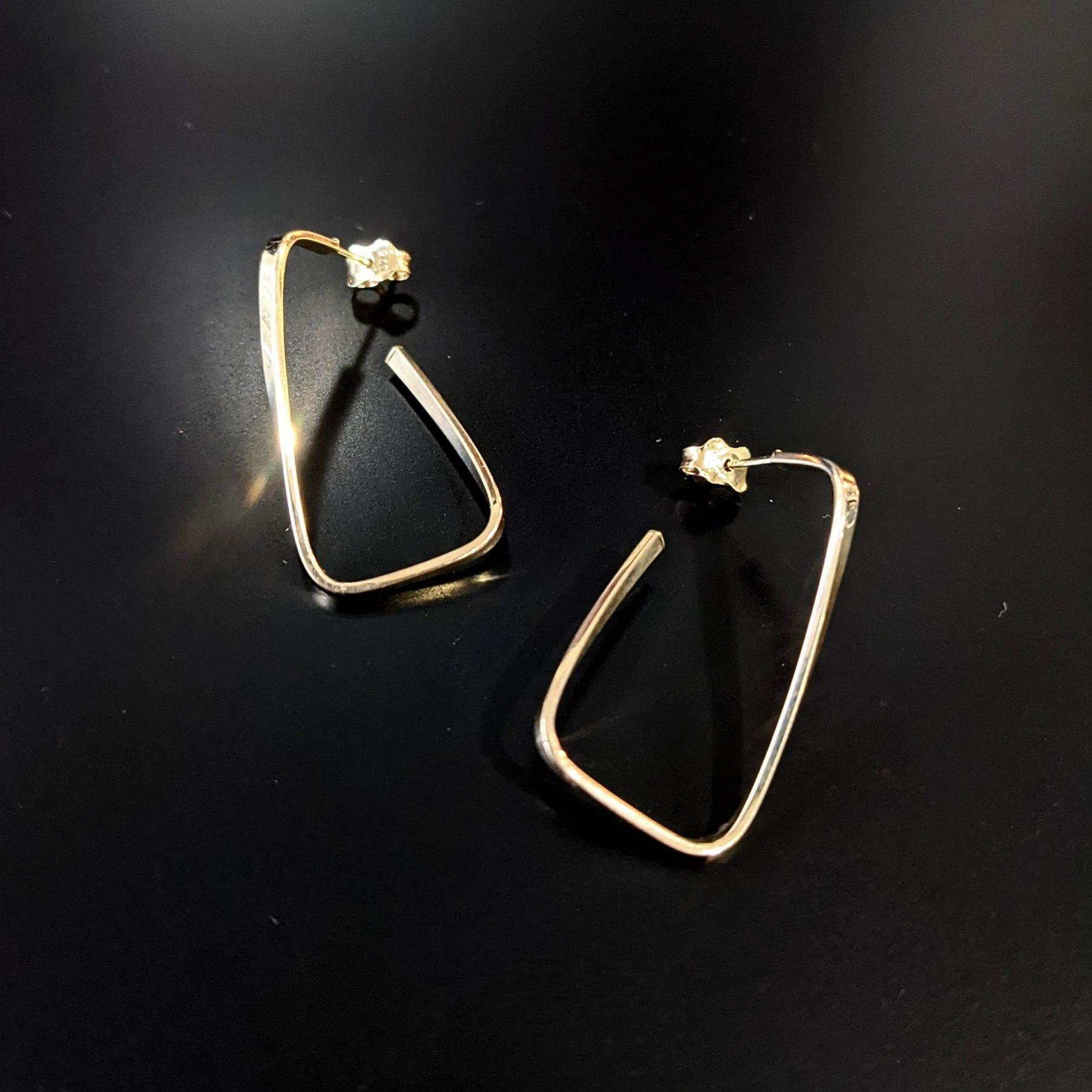 yellow gold earrings