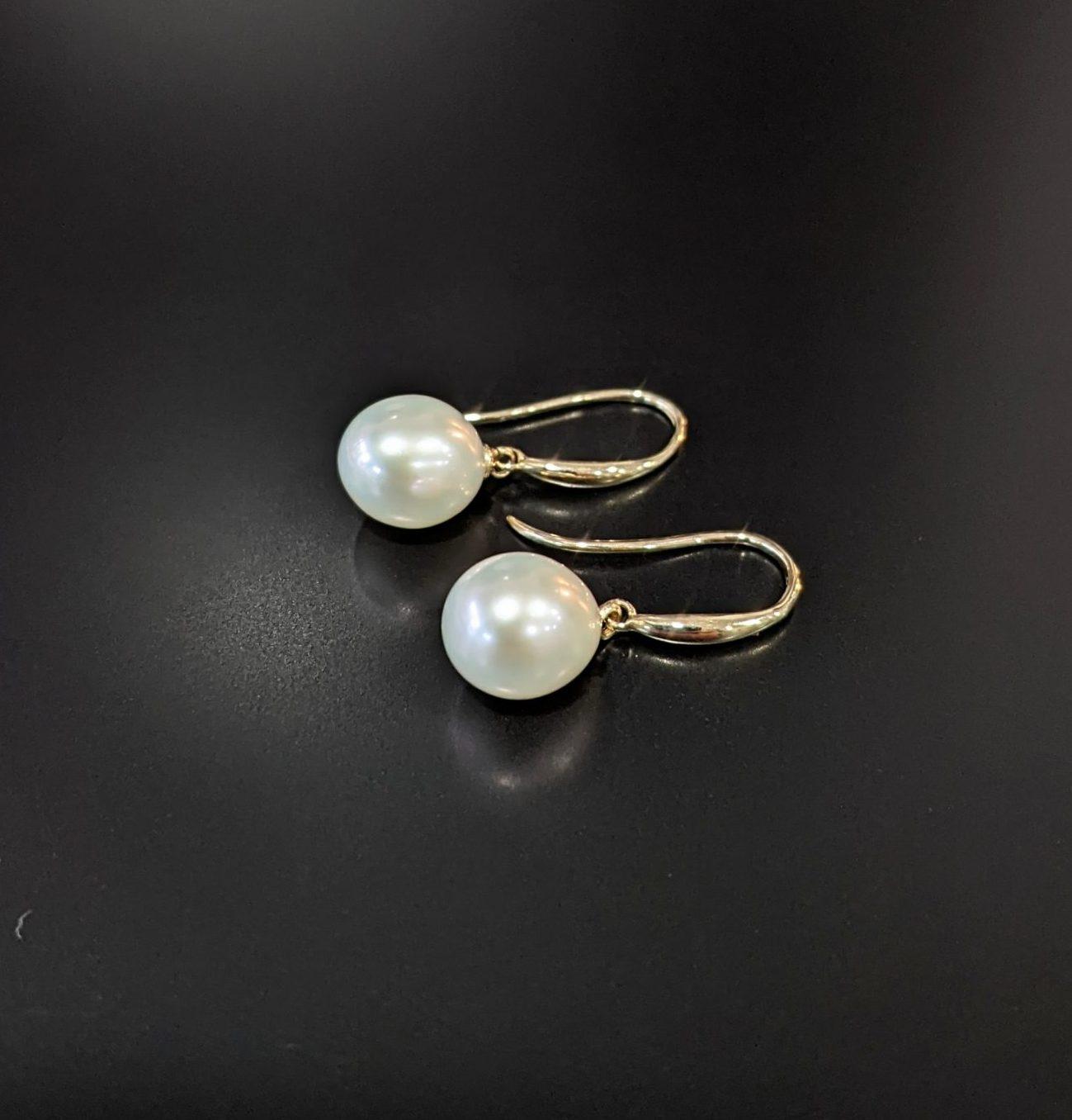 small pearl drop earrings