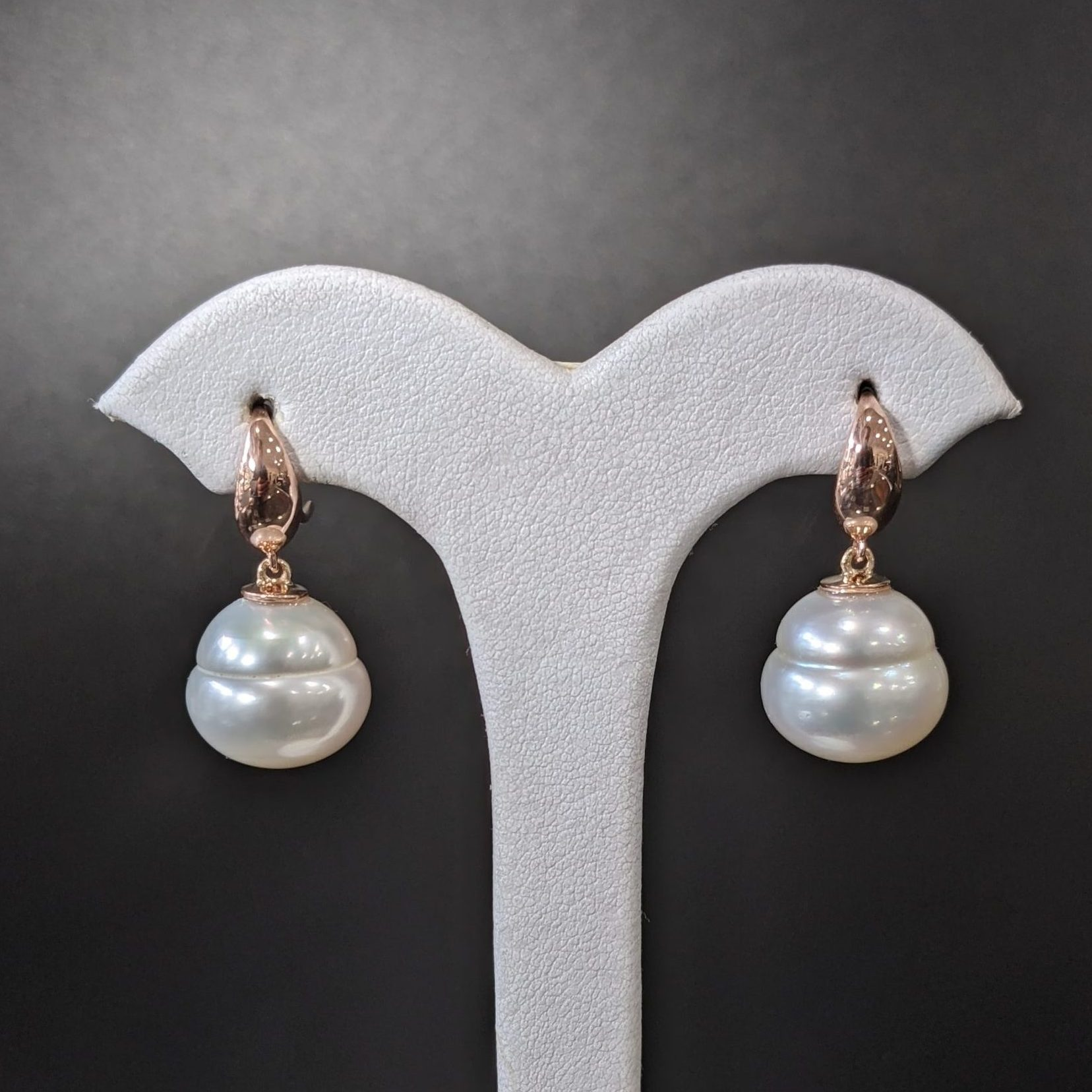 large baroque south sea pearl earrings made in melbourne